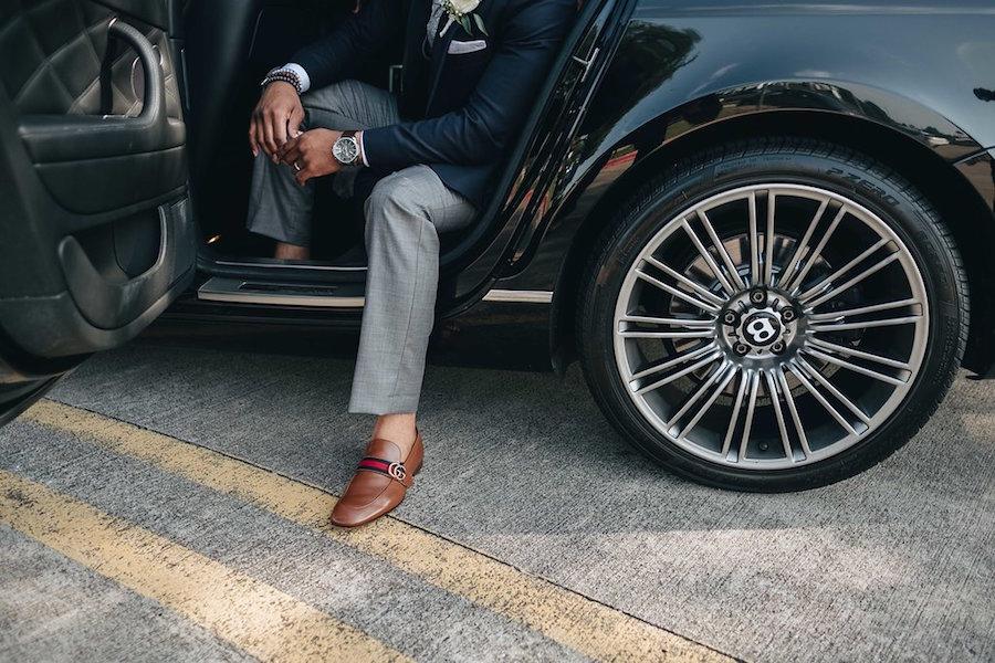 Luxury-Car-Nikki-Clayton-Violet-Wedding-Doyin-Fash