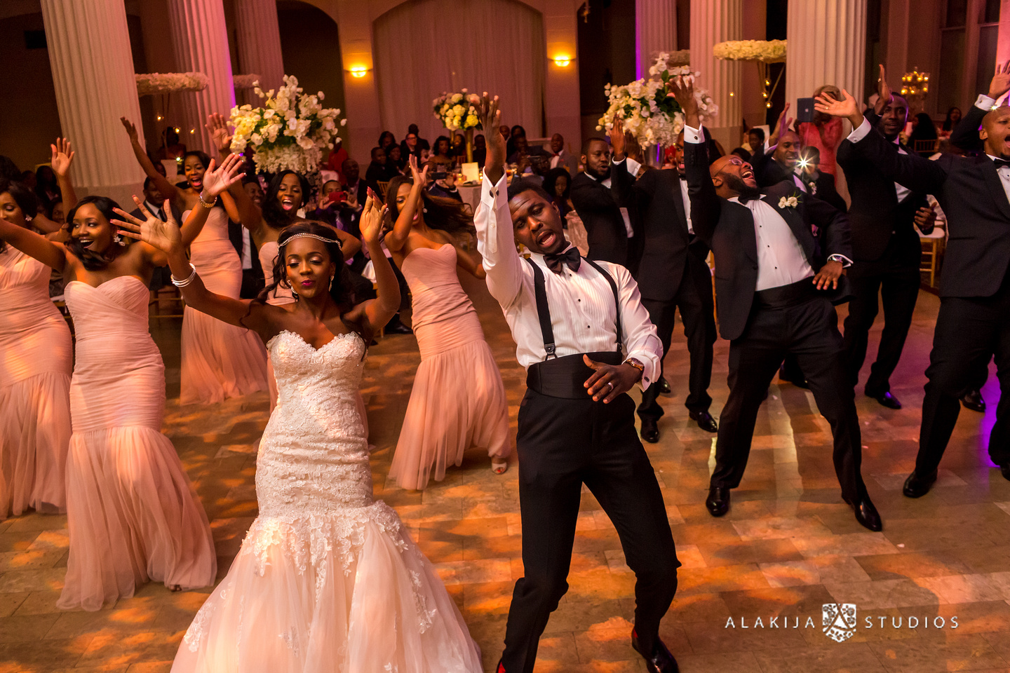 performance by the bridal party